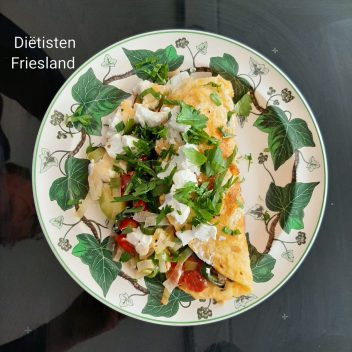Prei-omelet met geitenkaas