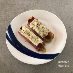 Witlof met rauwe ham en brie